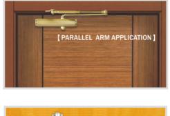Lựa chọn màu tay đẩy hơi phù hợp với màu cửa